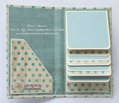 LOVE! CTMH Mini Folio Album - inside, by Patricia Manhire