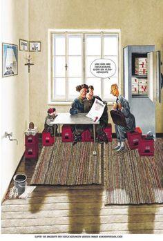 """Haderer-Karikatur vom 4. Oktober 2014: """"Super! Die Angebote der Versicherungen werden immer kundenfreundlicher."""" (Bild: Haderer)"""