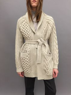 epic cabled cardigan. I bet it weighs three pounds. very beautiful.