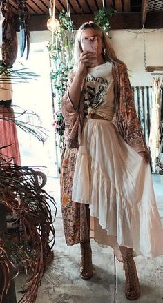 Boho Outfits, Hippie Chic Outfits, Look Hippie Chic, Looks Hippie, Estilo Hippie Chic, Hippie Boho, Cute Outfits, Fashion Outfits, Fashion Ideas
