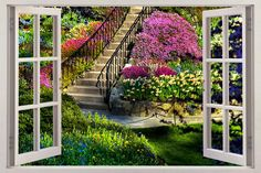 window view of garden - Google Search