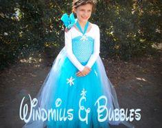 Congelados inspirado Vestido de Elsa con por TuTuGenie en Etsy