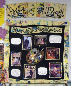 Artist Bulletin Board Henri de Toulouse-Lautrec       Cassie Stephens: In the Artroom: Hangin' with the College Kids