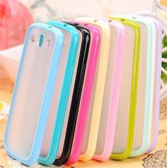 TPU Bumper Matte Clear Hard Case Cover For Samsung Galaxy S3 i9300