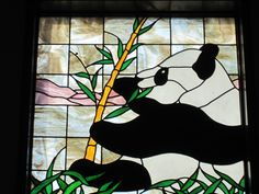 Panda stained glass