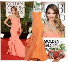 """""""Golden Globes 2013: Best Red Carpet Look"""" by emavera ❤ liked on Polyvore"""