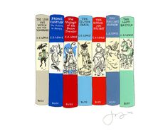 "Jane Mount ""My Ideal Bookshelf"" print featuring the Narnia books. Um, my birthday is coming up, Universe, so feel free to will someone into buying this for me!"