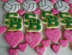 Volleyballs (Heart Cookie Cutter)  love the volleyballs and the hearts!