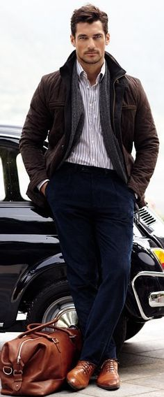 David Gandy | Shop the look at The Idle Man | #StyleMadeEasy