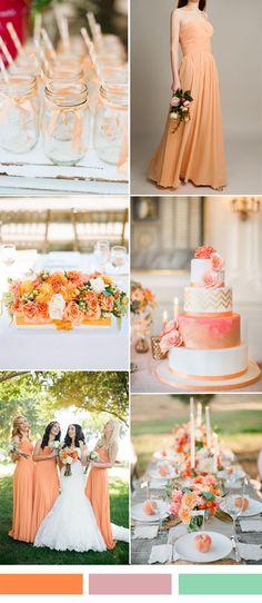 peach orange wedding color ideas for fall wedding 2015