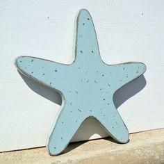 wood starfish nautical art by folkycreations on Etsy