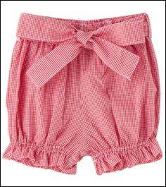 Moda Feminina - Shorts Balonê: Moda Verão 2011 - Feminina Moda Floral Shorts, Boho Shorts, Baby Girl Fashion, Kids Fashion, Short Niña, Babies R, Girls Pants, Toddler Outfits, Baby Dress
