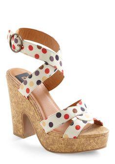 Love the polka dots! Candy Glam Heel, #ModCloth