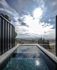The Kinii Ski Lodge in Salt Lake City - lap pool - Home Decorating Trends - Homedit Amazing Swimming Pools, Natural Swimming Pools, Natural Pools, Build A Fireplace, Destinations, Villa, Sweet Home, Spa, Visualisation