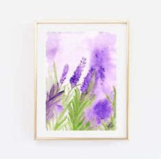 Lavender forest flower watercolor painting nature by Sweepinggirl