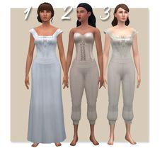 History Lover's Simblr , TS4: Edwardian Women's Sleep- & Underwear My...