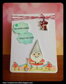 Creative Love Affair: Pretty Cute Stamps Feature - Watercolour Gnomie Card!