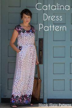 Catalina Dress Pattern by Blank Slate Patterns - Cap Sleeve version
