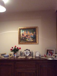 Babanın tablosu, bahçemizin gülleri,aile resimleri