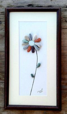 flowers pebble art newflowers gift birthday gift flowers