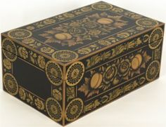 Nancy Corcoran ~ Ransom Cook Box 2007 exhibition    follow:The Historical Society of Early American Decoration