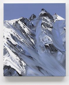 Gorgeous palette knife paintings of mountains by Conrad Jon Godly