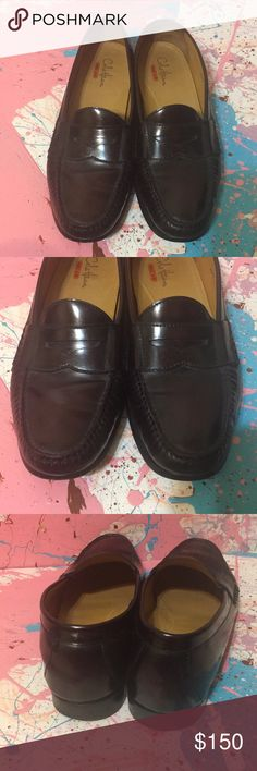 EUC size 12 Men's Dress Shoes Loafers Cole Haan Excellent condition  Most of wear is showing on bottom sole. See pic of heel tap Insole is clean  Upper part show minimal wear The color is like A really dark mahogany red or like a dark cherry wood furniture wood look like. It's a really nice color It's A Cole Haan with the Nike Air Technology which means it's looks like dress shoes but feels like sneakers.  Very good quality brand  Retails over $300  Please see pictures for best description…