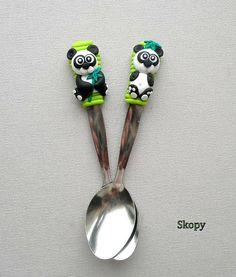 Pandíci Polymers, Spoon, Polymer Clay, Bb, Crafty, Tableware, Ideas, Mugs, Spoons