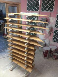pippy oak panels having finish applied
