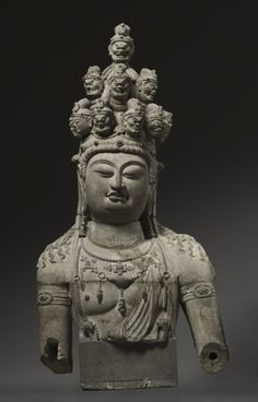 Eleven-Headed Guanyin, 1st quarter 8th Century China, Tang dynasty (618-906)