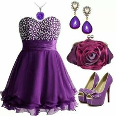 Cute look for prom. Cute Dresses, Prom Dresses, Formal Dresses, Purple Suits, Women Wear, Fancy, My Style, Womens Fashion, How To Wear