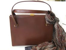 Coblenz Brown Leather Purse with YSL Silk Scarf