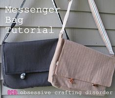 Sew A Bag ocd: obsessive crafting disorder: Bag Lady Week- Messenger Bag Tutorial - These bags are great, for business or pleasure. They are a bit more work than your average project so allow yourself about hours to cut and complete. Diy Messenger Bag, Messenger Bag Patterns, Messenger Bag Tutorials, Diy Backpack, Bag Sewing, Free Sewing, Sewing Tutorials, Sewing Projects, Sewing Patterns