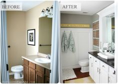 Small Master Bathroom Remodel with Stylish, Affordable Countertop Storage! #thehouseofsmiths #bathroom #beforeandafter