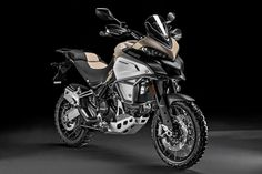 2017 Ducati Multistrada 1200 Enduro Pro FIRST LOOK: The rough and tumble ADV tourer gets useful accessories intended to handle any adventure you throw at it. Moto Ducati, New Ducati, Ducati Motorcycles, Scrambler Motorcycle, Cars And Motorcycles, Ducati Enduro, Ducati Multistrada 1200, Super Bikes, Street Bikes
