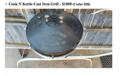 Even the early grills aren't cheap. This one, like mine, precedes the awarding of a U.S. Patent.