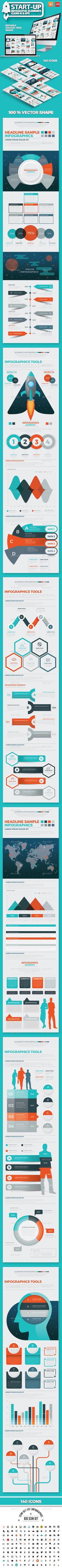 Start Up Infographic Design Template Vector EPS, AI Illustrator