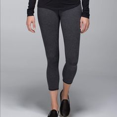 Bill Lululemons All size 2, 1 grey crop, 1 black reversible crop, 1 black skinny groove Pants Track Pants & Joggers