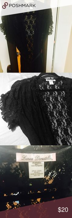 Sexy lace robe Black lace robe with silk draw string Linea Donatella Intimates & Sleepwear Robes