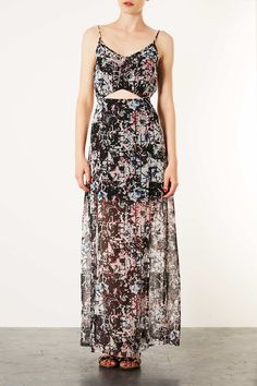Grid Floral Maxi Dress - New In This Week - New In - Topshop