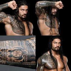 Joe Anoa'i (WWE Roman Reigns) tribal sleeve