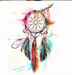 Acchiappasogni Dream Catcher Painting, Dream Catcher Drawing, Dream Catcher Tattoo, Tattoo Sketches, Art Sketches, Art Drawings, Cat Tattoo Designs, Tattoo Designs For Women, Feather Tattoos