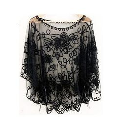 Victorian marie antoinette mysterious black lace by miadressshop, $36.00