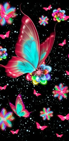 37 Ideas For Quotes Wallpaper Iphone Backgrounds Screens Phone Wallpapers Butterfly Wallpaper Iphone, Neon Wallpaper, Cute Wallpaper Backgrounds, Wallpaper Iphone Cute, Colorful Wallpaper, Cellphone Wallpaper, Iphone Backgrounds, Iphone Wallpapers, Beautiful Flowers Wallpapers