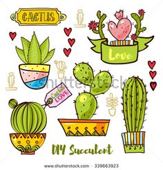 Cactus y suculentas en macetas. White Throws, White Throw Pillows, Succulent Pots, Cacti And Succulents, Kawaii Drawings, Easy Drawings, Rock Flowers, Kawaii Doodles, Desert Cactus