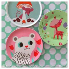 Some lovely happy plates! #Audrey Heikoop-van den Hurk