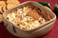 There are hot dips…and then there's this cheddar-jalapeño dip with chopped bacon and a kick of garlic. It's a keeper!