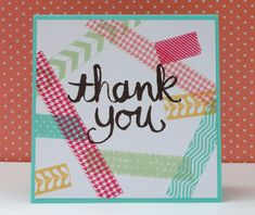 Marits blog: Stampin' Up! Tape It, Watercolor Thank you