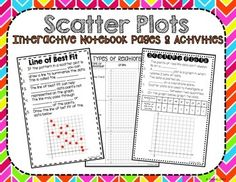Scatter Plots and Line of Best Fit Interactive Notebook Line Of Best Fit, Scatter Plot, Math 8, Types Of Relationships, Interactive Notebooks, Mini Books, Prepping, Algebra 2, Notes