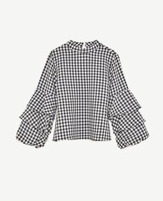 Image 8 of GINGHAM CHECK TOP from Zara